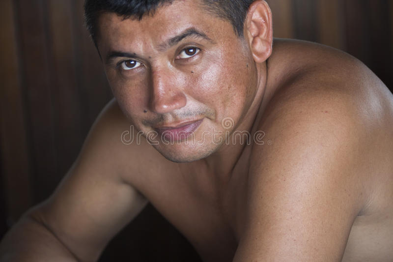 Retrato del hombre del pescador y de la guía, Venezuela foto de archivo libre de regalías