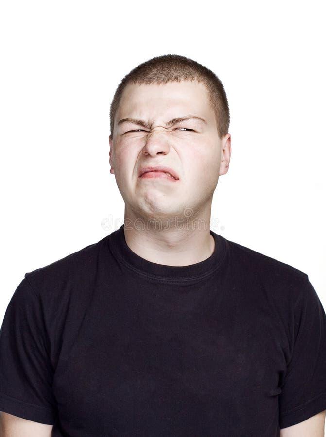 Retrato del hombre joven Expresi?n facial E foto de archivo libre de regalías