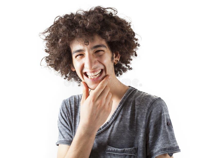 Retrato del hombre joven sonriente foto de archivo