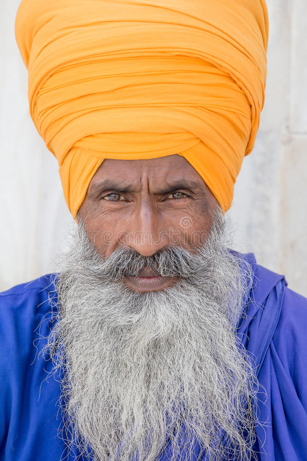 Retrato del hombre sikh indio fotos de archivo libres de regalías
