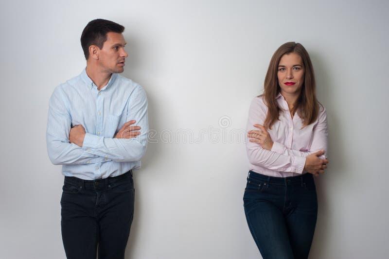 Retrato del hombre y de la mujer imagen de archivo