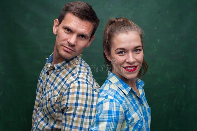 Retrato del hombre y de la mujer foto de archivo