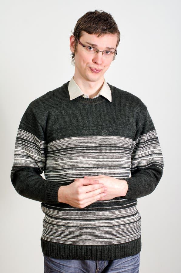 Retrato del individuo tímido joven imagen de archivo