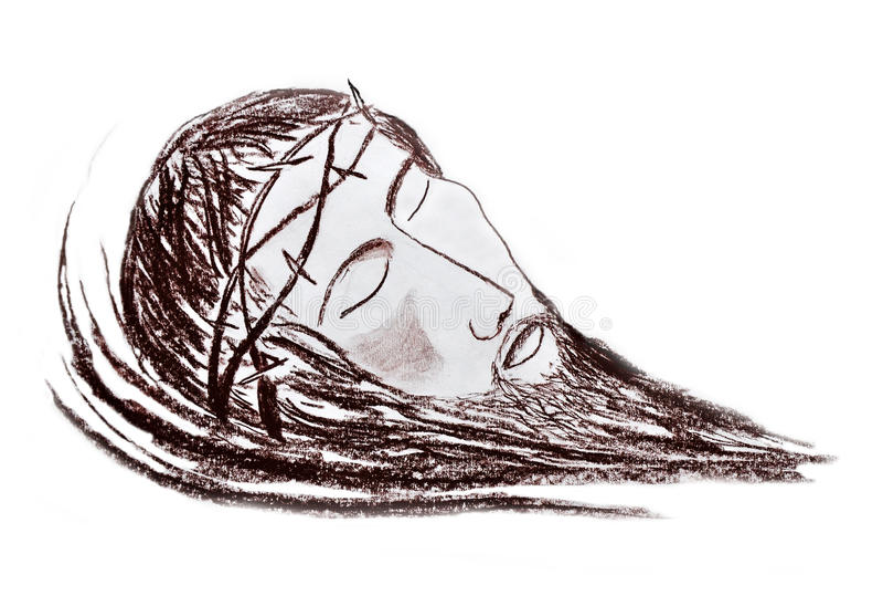 Retrato del Jesucristo stock de ilustración