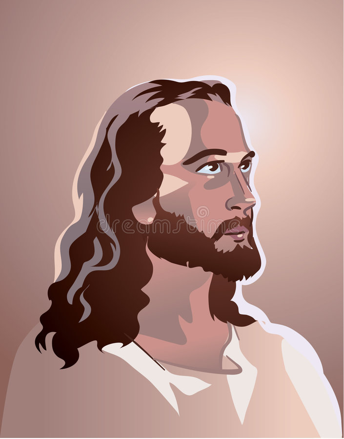 Retrato del Jesucristo del vector libre illustration