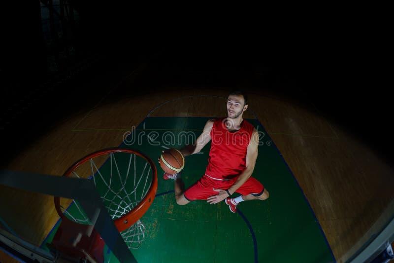 Retrato del jugador de básquet imagenes de archivo