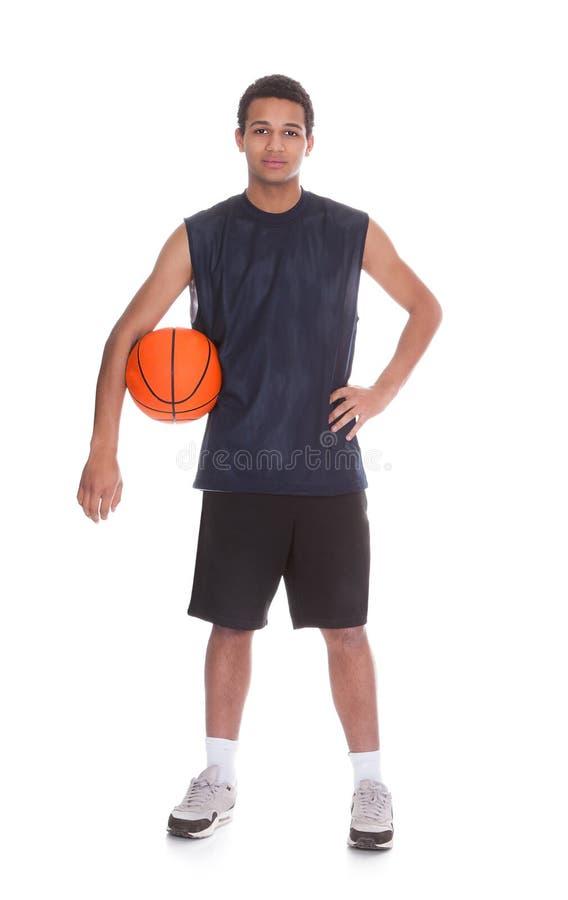 Retrato del jugador de básquet profesional fotos de archivo libres de regalías