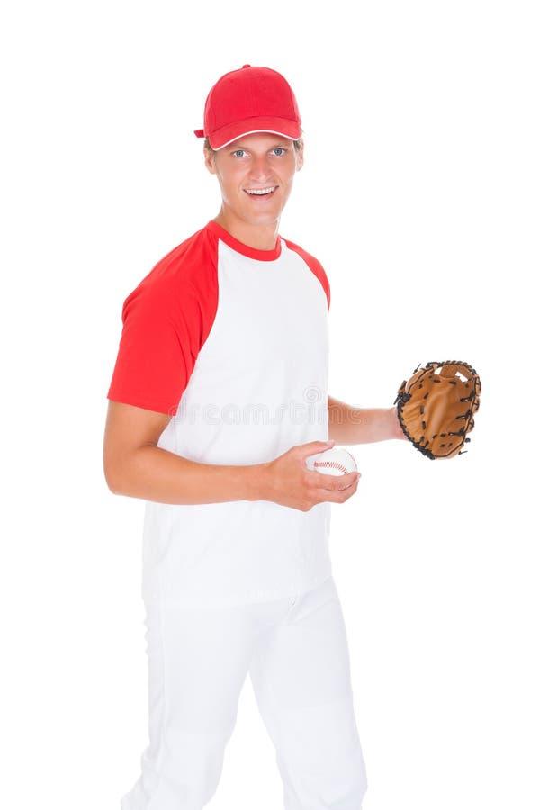 Retrato del jugador de béisbol fotos de archivo