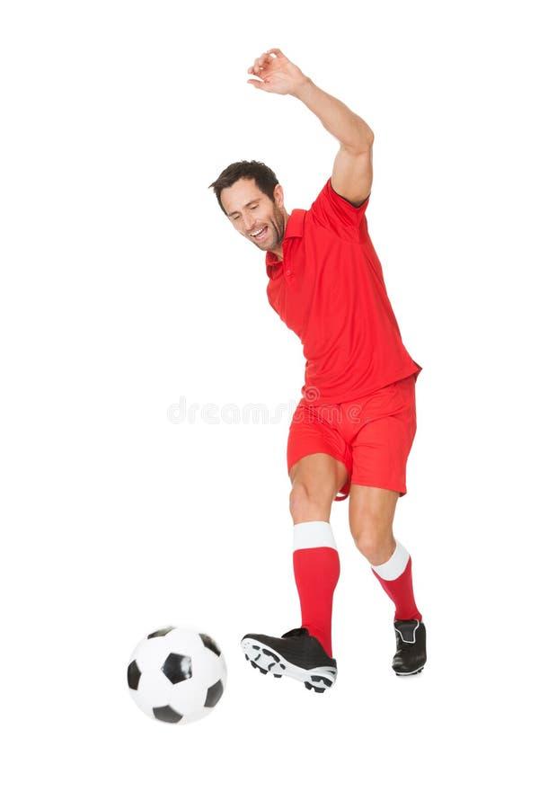Retrato del jugador de fútbol imagenes de archivo