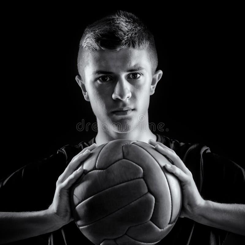 Retrato del jugador de fútbol fotos de archivo libres de regalías