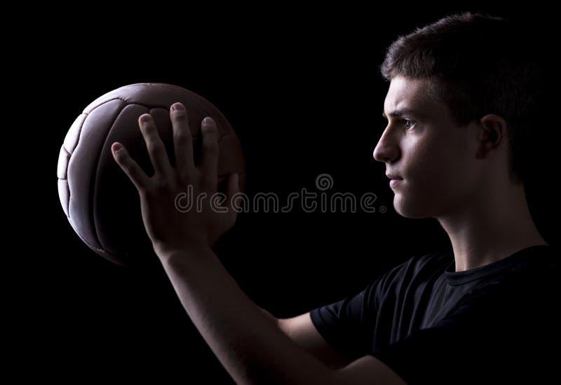 Retrato del jugador de fútbol imagen de archivo libre de regalías