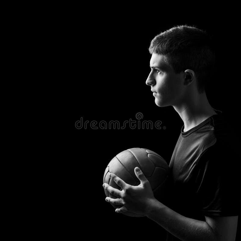 Retrato del jugador de fútbol fotografía de archivo libre de regalías