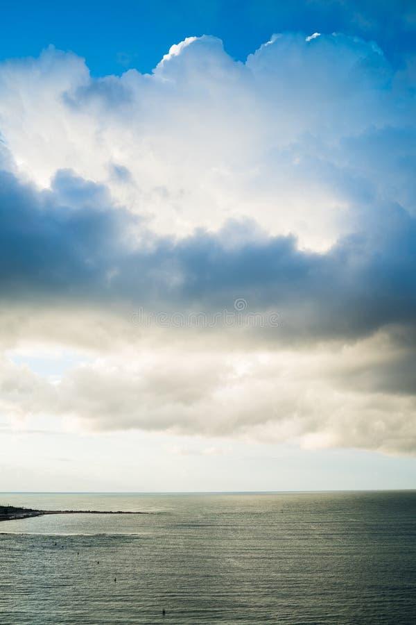 Retrato del mar de la nube de Alicante imagen de archivo libre de regalías
