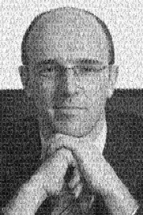 Retrato del mosaico del hombre de negocios foto de archivo