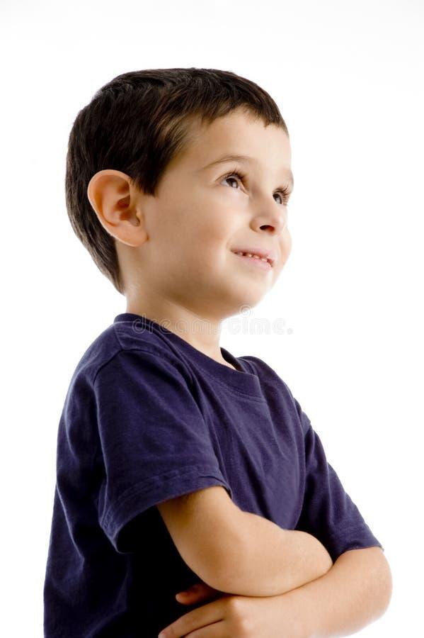 Retrato del muchacho que mira de lado imagenes de archivo
