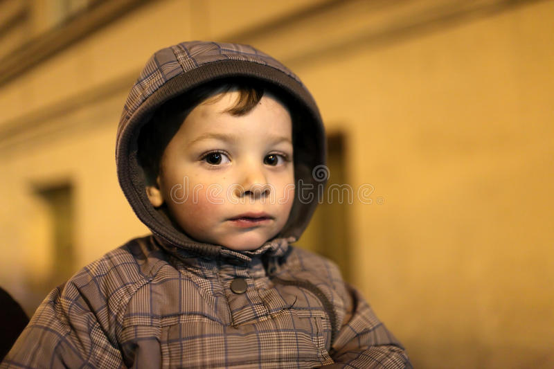Retrato del niño cansado fotografía de archivo libre de regalías