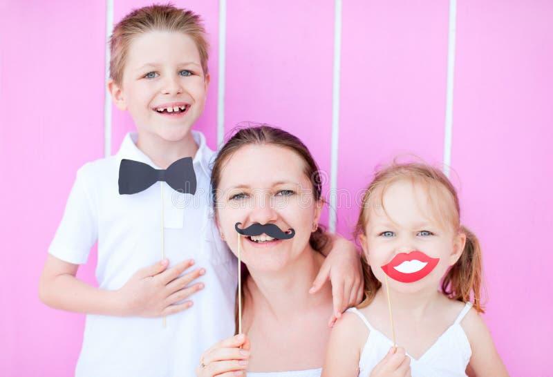 Retrato del partido de la familia foto de archivo libre de regalías