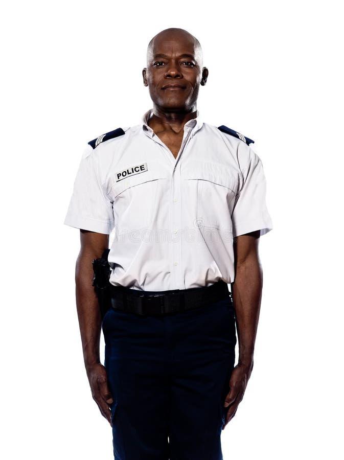 Retrato del policía en uniforme foto de archivo libre de regalías