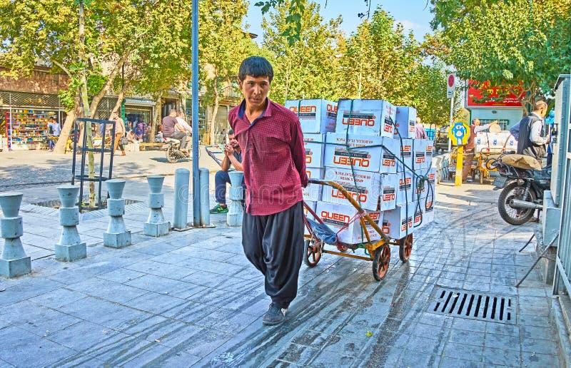 Retrato del portero iraní, Teherán imagen de archivo libre de regalías