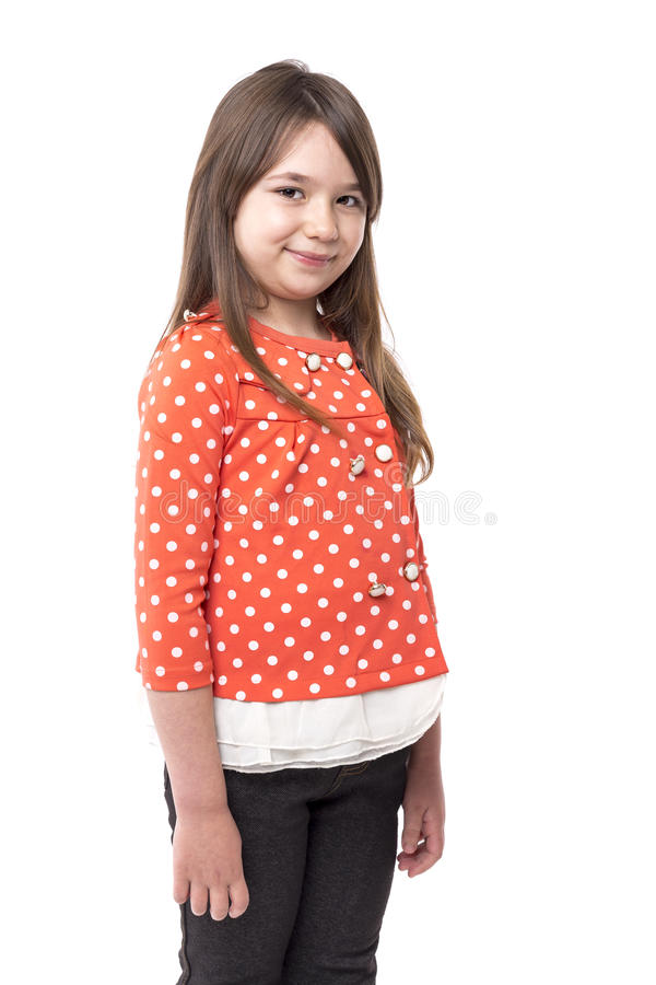 Retrato del primer de una niña bonita sonriente fotografía de archivo libre de regalías
