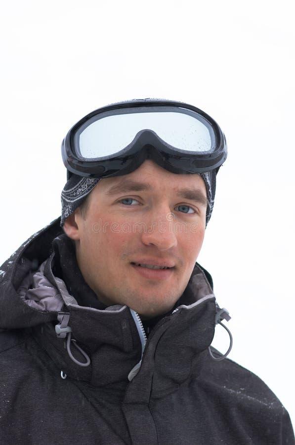 Retrato del Snowboarder fotografía de archivo