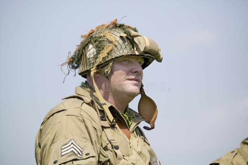 Retrato del soldado de infantería americano de Joe de SOLDADO ENROLLADO EN EL EJÉRCITO, imágenes de archivo libres de regalías