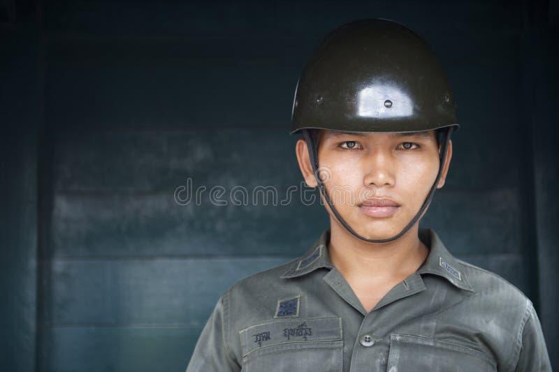 Retrato del soldado tailandés Bangkok Thailand del ejército imagen de archivo