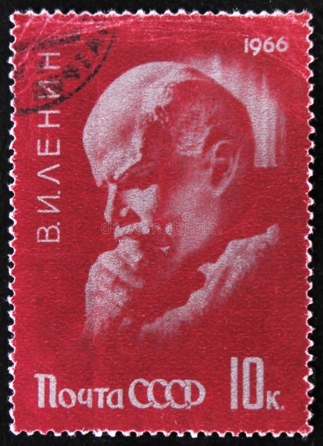Retrato del V Lenin en enfoque que piensa, líder de Partido Comunista, circa 1966 fotografía de archivo libre de regalías