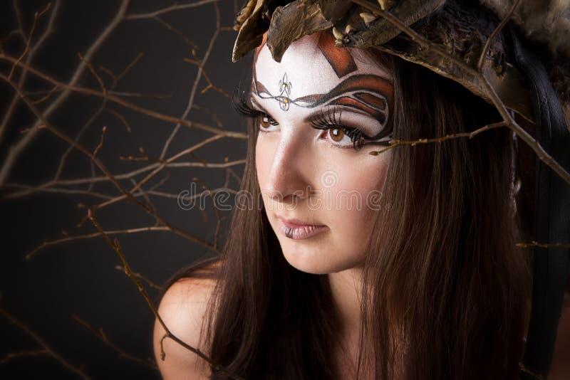 Retrato del vikingo femenino imágenes de archivo libres de regalías