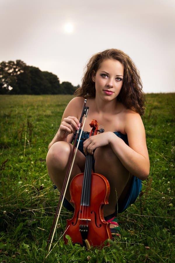 Retrato del violinista fotos de archivo