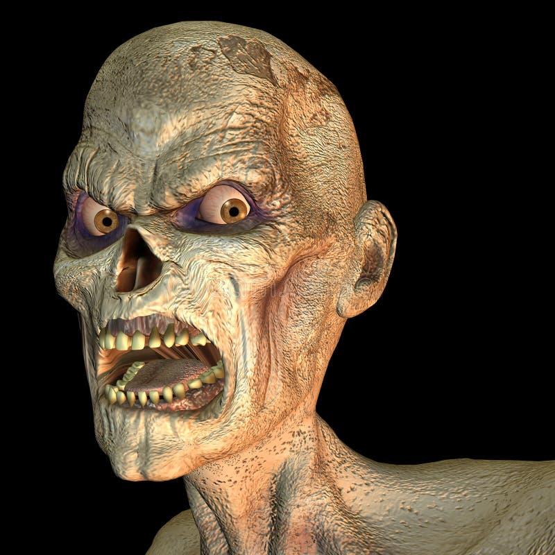 Retrato del zombi stock de ilustración