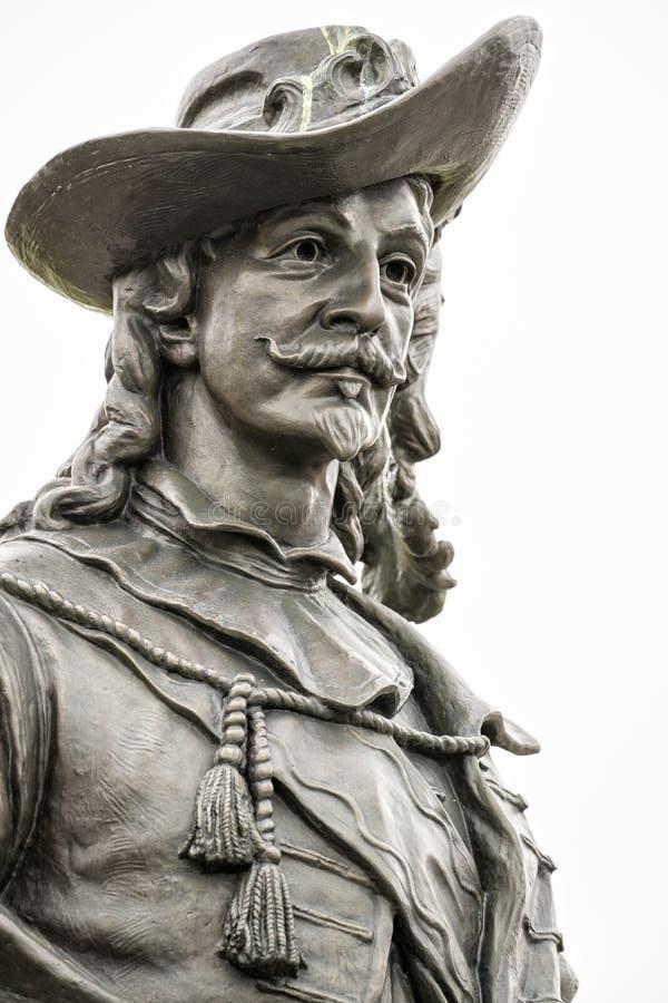 Retrato delantero de la estatua de Samuel de Champlain imagenes de archivo