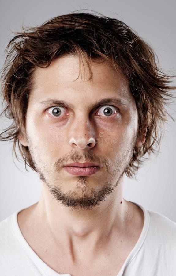 Retrato detallado de la cara imágenes de archivo libres de regalías