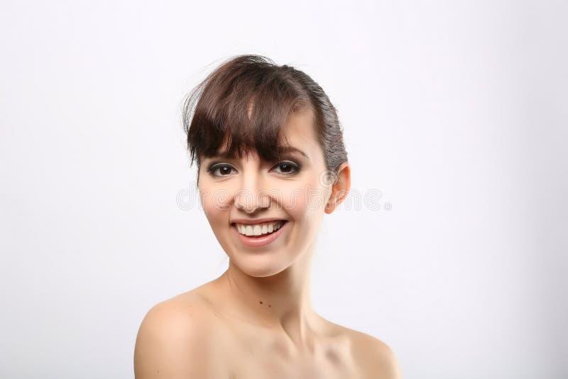 Retrato dianteiro da mulher com cara da beleza fotos de stock royalty free