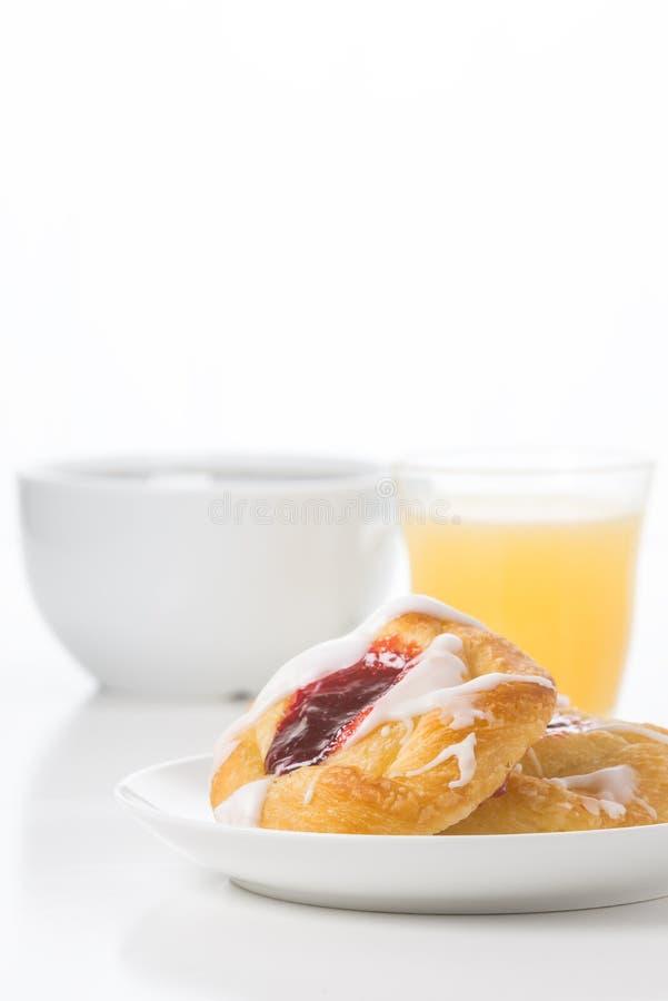 Retrato dinamarquês do café da manhã da framboesa imagens de stock royalty free