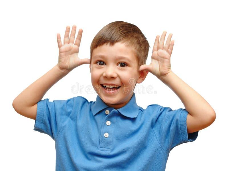 Retrato divertido del niño pequeño imagenes de archivo