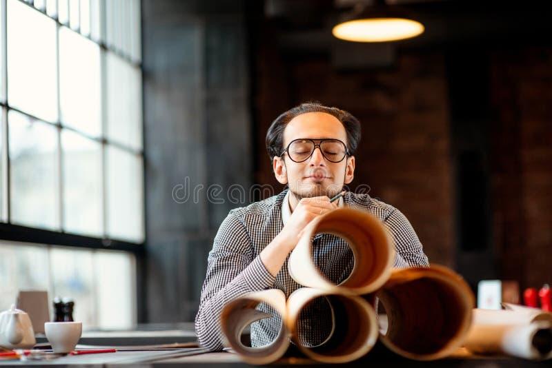 Retrato do arquiteto criativo foto de stock royalty free