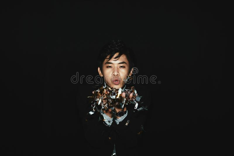Retrato do asiático à moda Clubber imagens de stock