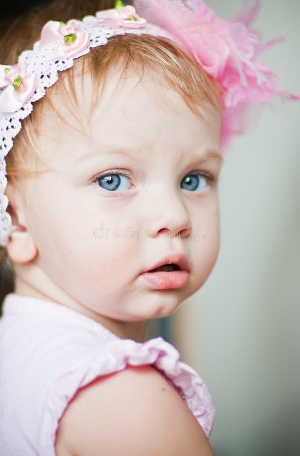Retrato do bebé foto de stock