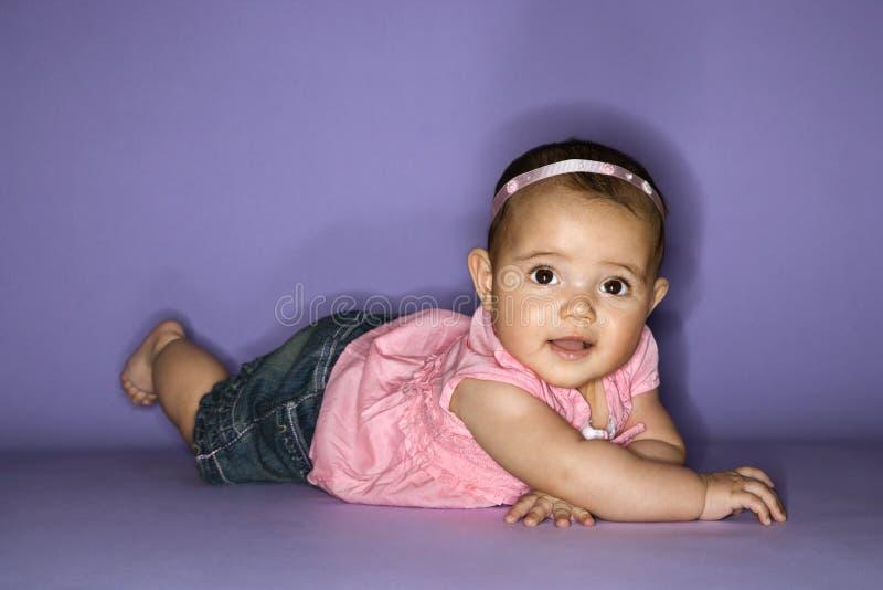 Retrato do bebê fêmea. imagens de stock royalty free