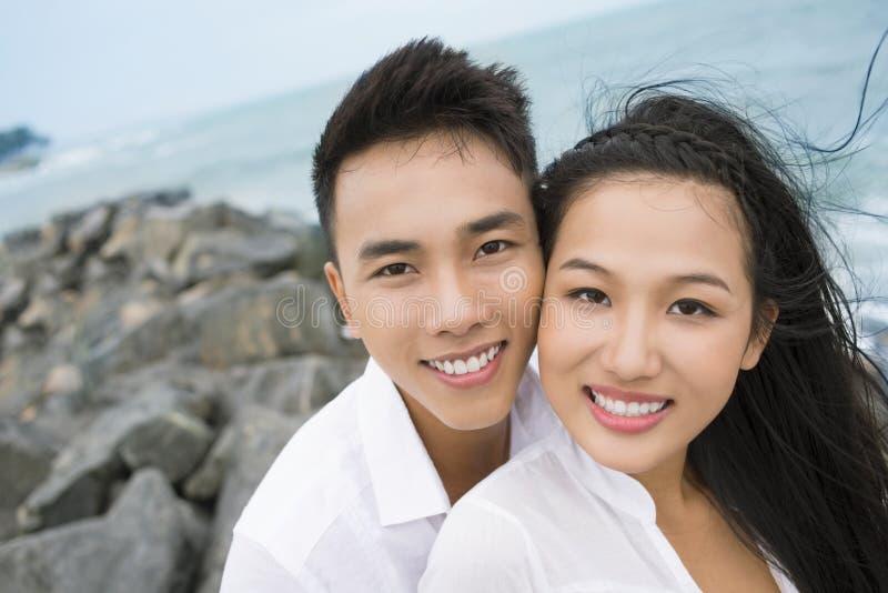 Retrato do beira-mar imagem de stock royalty free