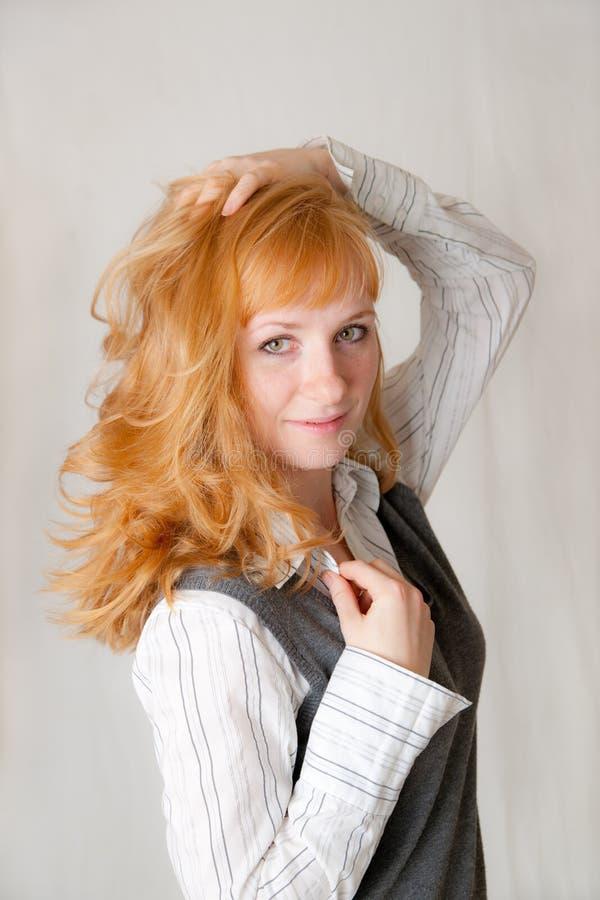 Retrato do blonde bonito foto de stock