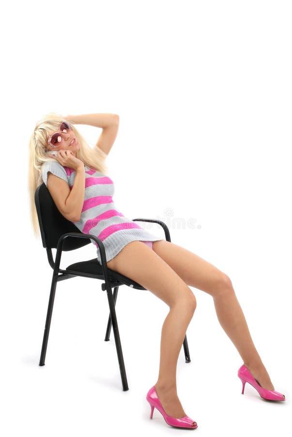 Retrato do blonde bonito imagem de stock