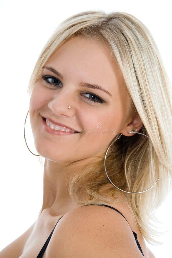 Retrato do blonde com olhos azuis imagem de stock royalty free