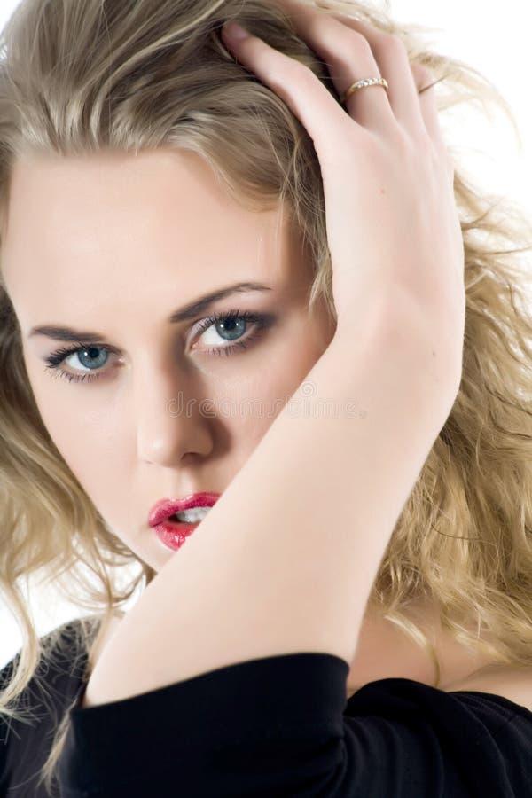 Retrato do blonde com olhos azuis imagens de stock royalty free