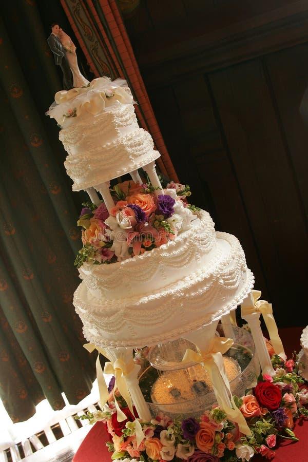 Retrato do bolo de casamento imagens de stock