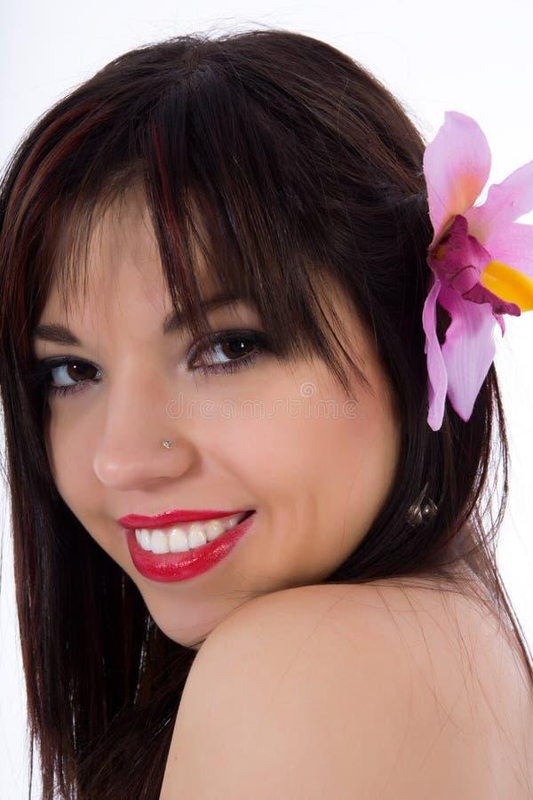 Retrato do brunette imagens de stock royalty free