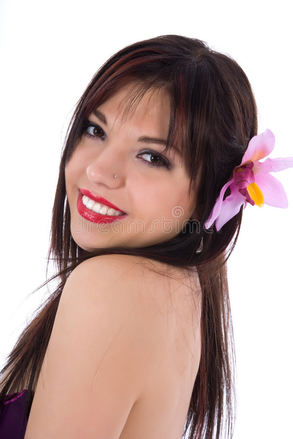 Retrato do brunette imagem de stock