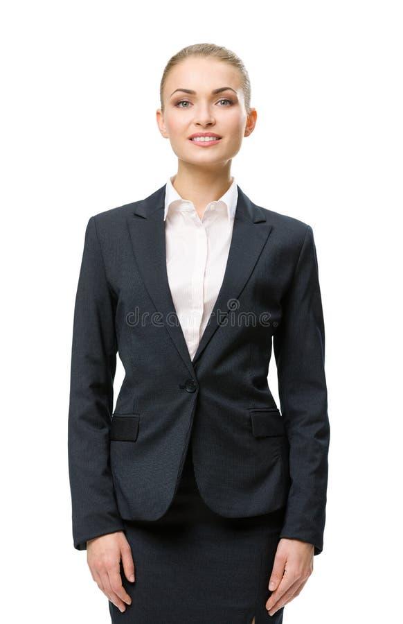 Retrato do busto da mulher de negócios imagens de stock