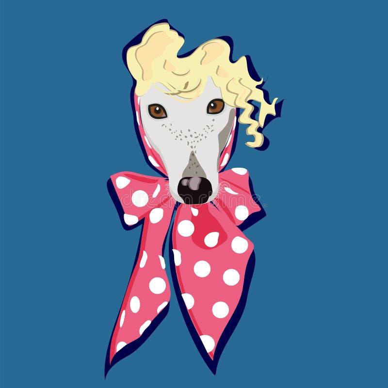 retrato do cão da forma ilustração royalty free